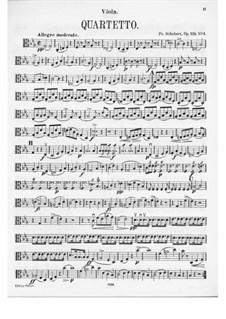 String Quartet No.10 in E Flat Major, D.87 Op.125 No.1: Viola part by Franz Schubert