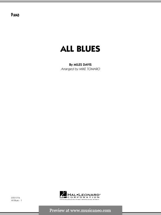 All Blues: Piano part by Miles Davis