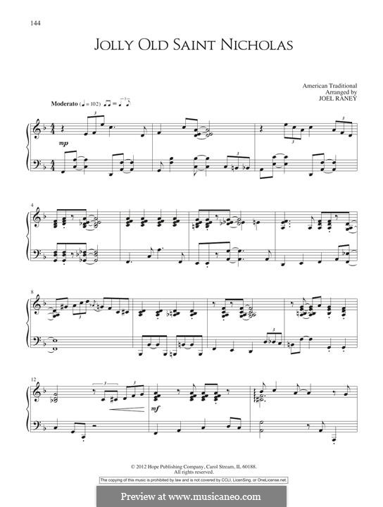 Jolly Old St. Nicholas: For piano by folklore