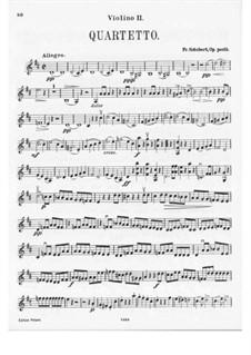 String Quartet No.7 in D Major, D.94: Violin II part by Franz Schubert