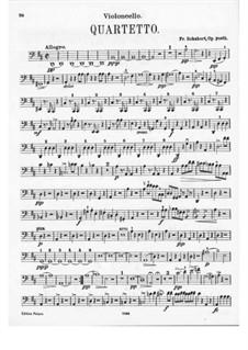 String Quartet No.7 in D Major, D.94: Cello part by Franz Schubert