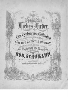Spanische Liebeslieder (Spanish Love Songs), Op.138: Complete set by Robert Schumann