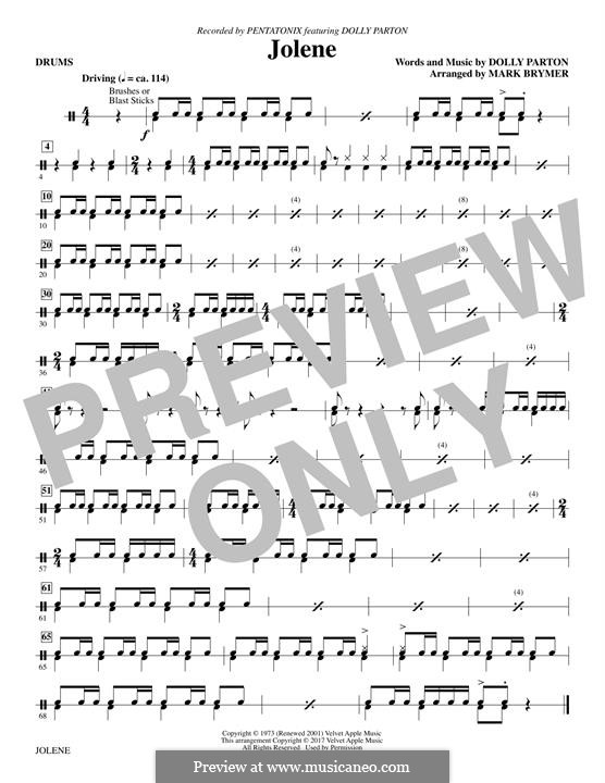 Jolene: Drums part by Dolly Parton