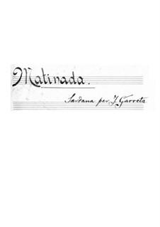 Sardana 'Matinada': For piano by Juli Garreta