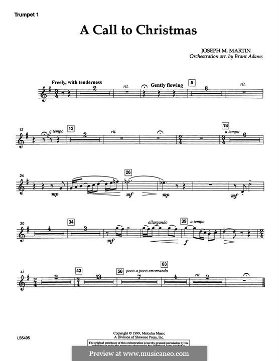 Canticle of Joy: Trumpet 1 part by Joseph M. Martin
