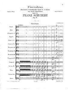 Fierrabras, D.796: Full score by Franz Schubert