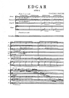 Edgar: Full score by Giacomo Puccini