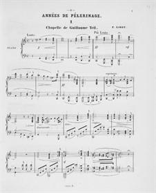 Première année. Suisse, S.160: No.1-5 by Franz Liszt