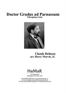 No.1 Doctor Gradus ad Parnassum: For vibraphone by Claude Debussy