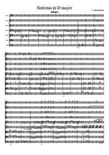 Symphony in D Major, G.521 Op.43: Full score by Luigi Boccherini
