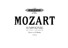 Complete Movements: Arrangement for two pianos eight hands – piano I part by Wolfgang Amadeus Mozart