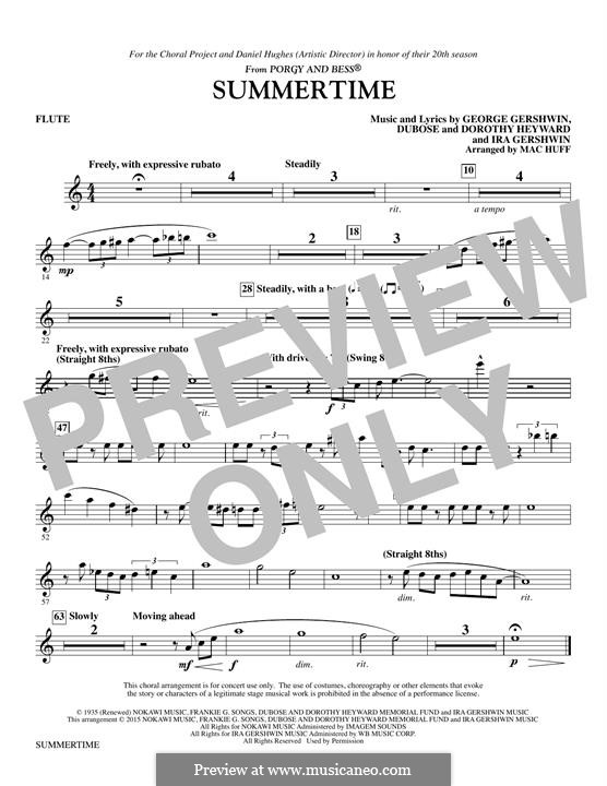 Summertime: Flute part by George Gershwin