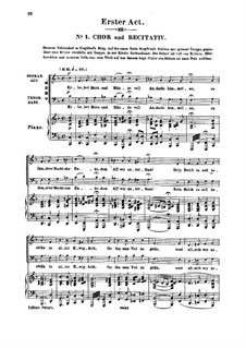 Genoveva, Op.81: Act I. Arrangement for soloists, choir and piano by Robert Schumann