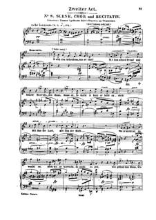 Genoveva, Op.81: Act II. Arrangement for soloists, choir and piano by Robert Schumann