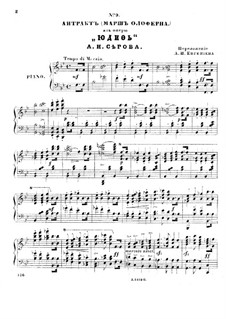 Judith: Act III. Arrangement for soloists, choir and piano by Alexander Serov