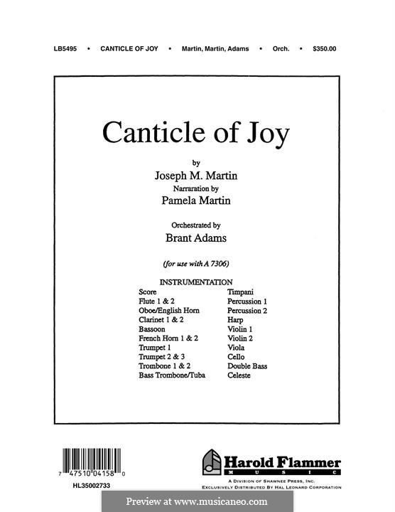 Canticle of Joy: Score by Joseph M. Martin