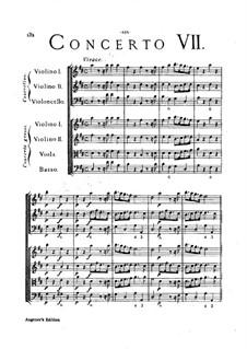 Concerto Grosso No.7: Full score by Arcangelo Corelli