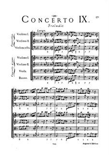 Concerto Grosso No.9: Full score by Arcangelo Corelli