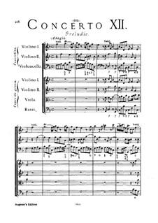 Concerto Grosso No.12: Full score by Arcangelo Corelli