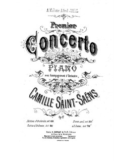 Concerto for Piano and Orchestra No.1 in D Major, Op.17: Full score by Camille Saint-Saëns