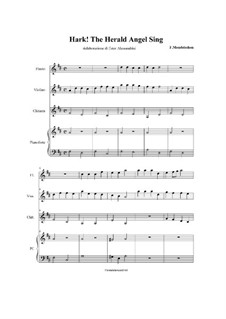 Instrumental version: For quartet by Felix Mendelssohn-Bartholdy