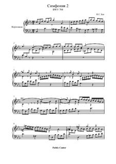 No.2 in C Minor, BWV 788: For piano by Johann Sebastian Bach