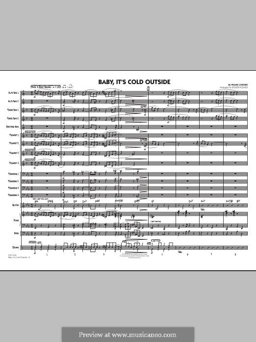 Baby, it's Cold Outside: Full score (arr. Roger Holmes) by Frank Loesser
