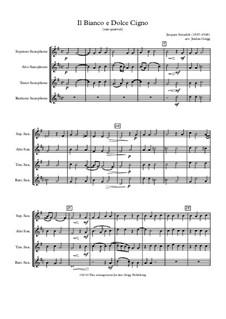 Il bianco e dolce cigno: For sax quartet by Jacques Arcadelt