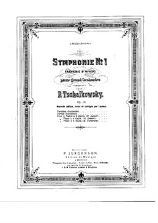 Symphony No.1 in G Minor 'Winter Daydreams', TH 24 Op.13: For piano by Pyotr Tchaikovsky