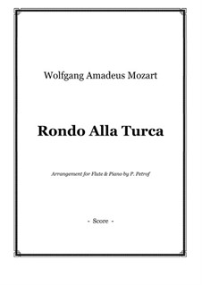 Rondo alla turca: For flute and piano by Wolfgang Amadeus Mozart