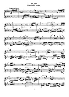 Duets for Two Flutes: Duet No.5 by Wilhelm Friedemann Bach