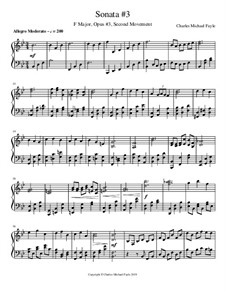 Sonata No.3, Op.3: Second Movement by Charles Fayle