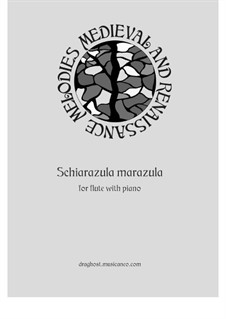 Schiarazula marazula: For flute and piano by Giorgio Mainerio