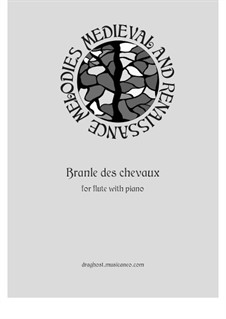 Branle des chevaux: For flute and piano by Thoinot Arbeau