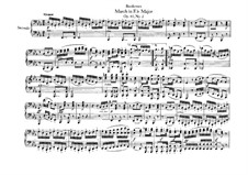 Three Marches , Op.45: March in E Flat Major, for piano four hands by Ludwig van Beethoven