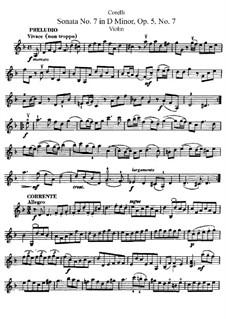 Sonata No.7: Solo part by Arcangelo Corelli