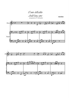 Auld Lang Syne: For oboe and piano by folklore