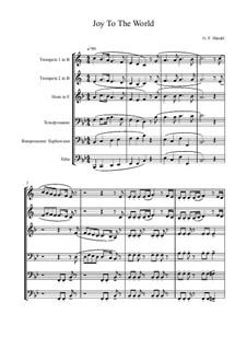 Joy to the World: For brass band by Georg Friedrich Händel