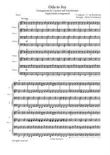 Ode to Joy: Version for 4 performers by Ludwig van Beethoven