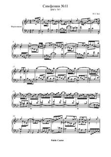 No.11 in G Minor, BWV 797: For piano by Johann Sebastian Bach