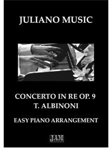 Fragments: Adagio from 'Concerto in RE' (easy piano - C Version) by Tomaso Albinoni
