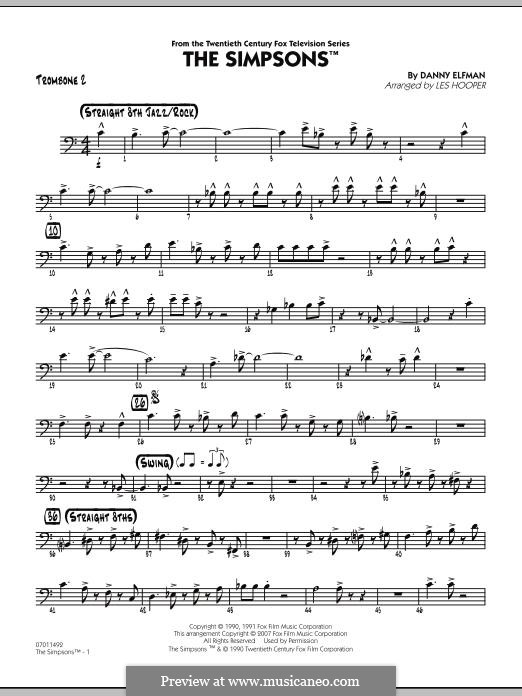 The Simpsons: Trombone 2 part by Danny Elfman