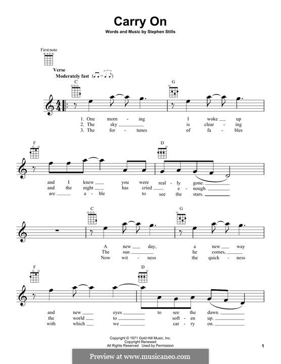 Carry on (Crosby, Stills & Nash): For ukulele by Stephen Stills