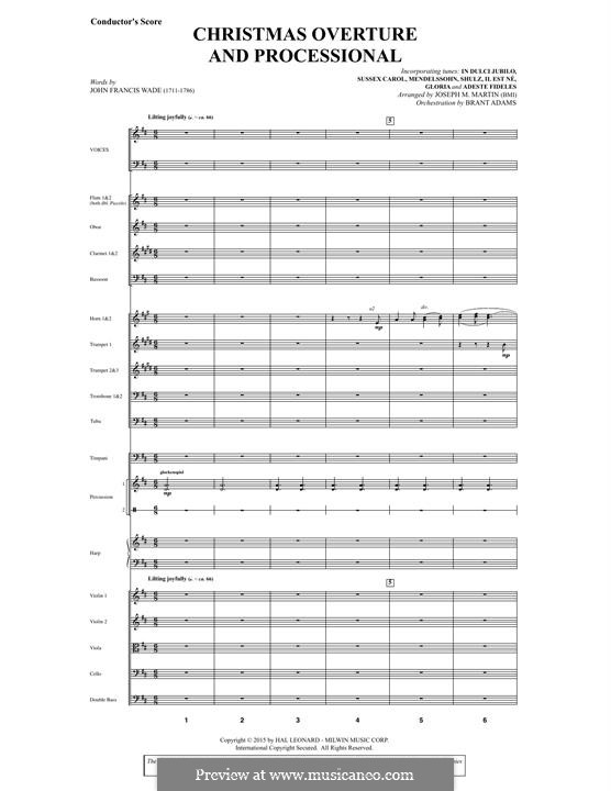 Let There Be Christmas Orchestration: Score by Joseph M. Martin