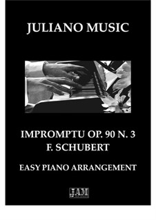 Four Impromptus for Piano, D.899 Op.90: Impromptu No.3 (Easy Piano - C Version) by Franz Schubert