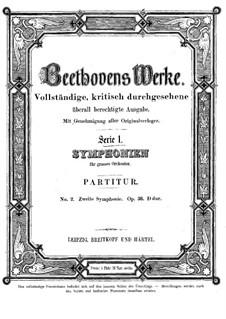 Symphony No.2, Op.36: Full score by Ludwig van Beethoven