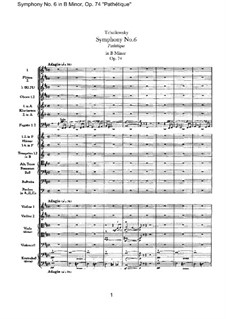Complete Movements: Full score by Pyotr Tchaikovsky
