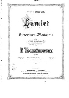 Hamlet. Overture-Fantasia, TH 53 Op.67: For piano four hands by Pyotr Tchaikovsky