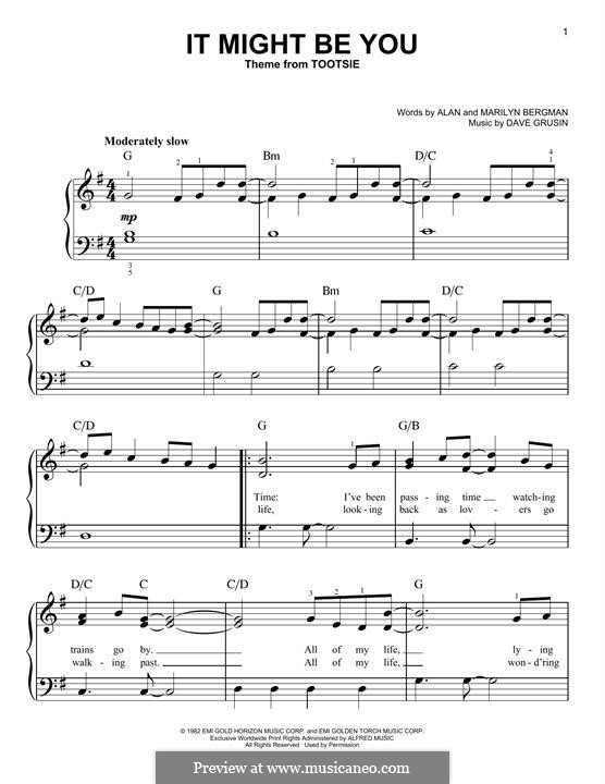It Might Be You: For piano by Dave Grusin