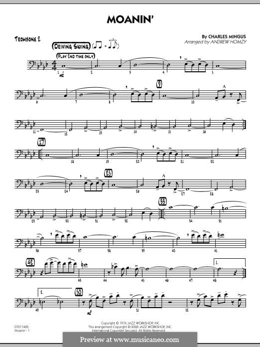 Moanin By C Mingus Sheet Music On Musicaneo